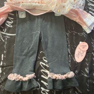 Little Lass Matching Sets - 2 pc mock shrug set